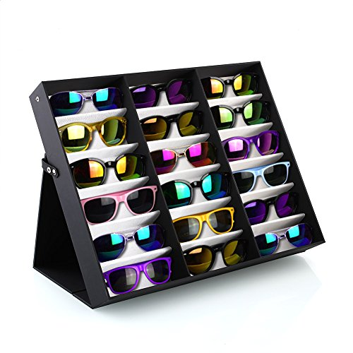 Femor brillenständer für 18 Paare Brillen Aufbewahrung Brillendisplay (18 Paare Brillen)