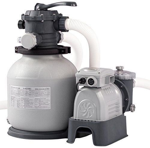 Intex 28646GS 2100 GPH Sand Filter Pump W/RCD (220-240 V), grau, 54x47x59.5 cm