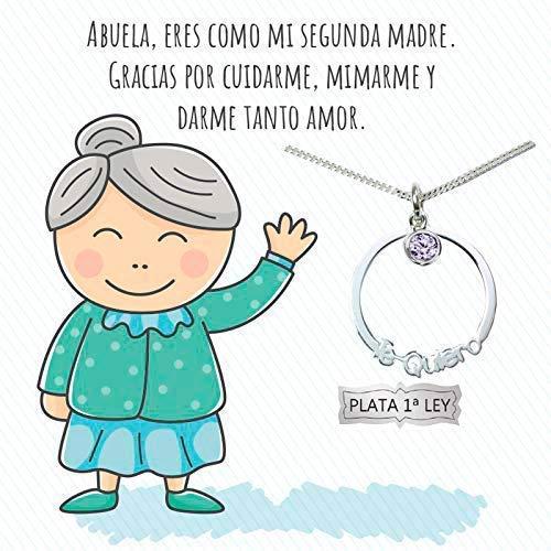 Collar Karma con mensaje para abuela Plata de Ley 925 - Regalo a la mejor Abuela