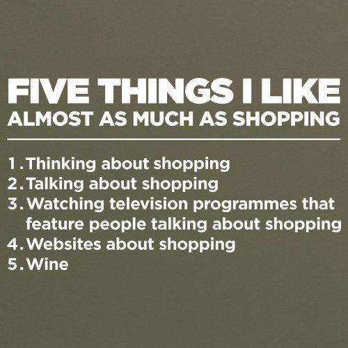 Five Things I Like - Shopping T-Shirt, Damen Olivgrn