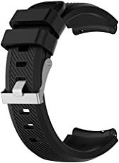 Tomtopp 22mm Silicone Watch Strap for HUAMI Amazfit 1/2 Generation(Black S)