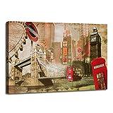 Visario Leinwandbilder 5176 Bild auf Leinwand London, 120 x 80 cm