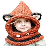 Los niños de los bebés varones calientes del invierno de los cabritos del Fox Earflap encapucharon los casquillos del sombrero de las bufandas para los cabritos