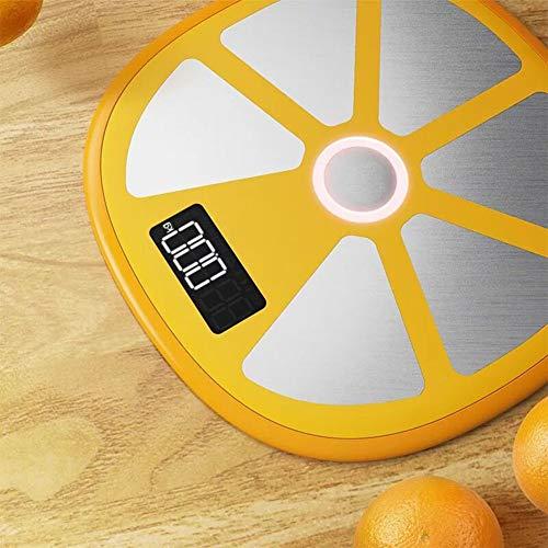 L&J Digitale Körperwaage,Smart Bluetooth Personen Körperwaage Körperanalysegerät Körperfettwaage Mit Hochpräzisions-Sensoren Slim 180Kg Kapazität,Orange