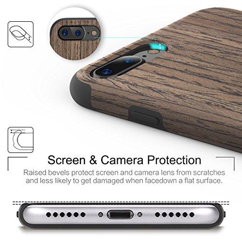 "ROCK ""Origin"" iPhone 7 Holzhülle Tasche Schutzhülle aus echtem Holz / Blackrose Rosewood"