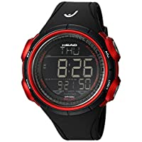 HEAD Men's Quartz Watch, Digital Display and Rubber Strap HE-100-04