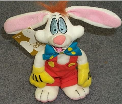 Retired Vintage Disney Roger Rabbit 7 Plush Bean Bag Doll New with Tags by Disney