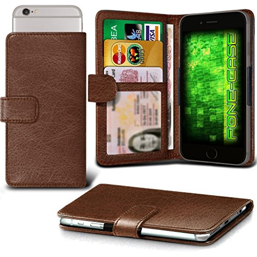 Fone-Case (Brown) HTC one A9s Hülle Clamp-Art-Mappen Schutz-PU-Leder-Abdeckung
