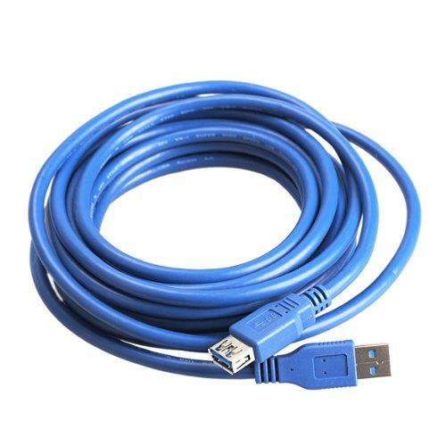 Dato Cabledemiawaking 16FT USB 3.0 Un Varón a La Extensión Femenina Cable De La Sincronización De Los Datos Cable 4.8Gbps Para La PC