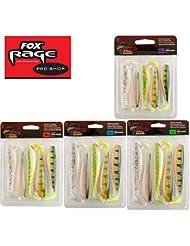 Fox Rage Zander Pro Shads Mixed Colour, 5 verschiedene Farben im Set, Gummifische, Gummiköder für Zander, Hechtköder, Zanderköder, Barschköder, Forellenköder