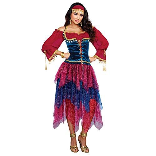sy Kostüm, Mittel (Womens Gypsy Erwachsene Kostüme)