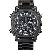 Infantry Herren Analog-Digital Uhr Chronograph Outdoor Schwarz Edelstahl Armband