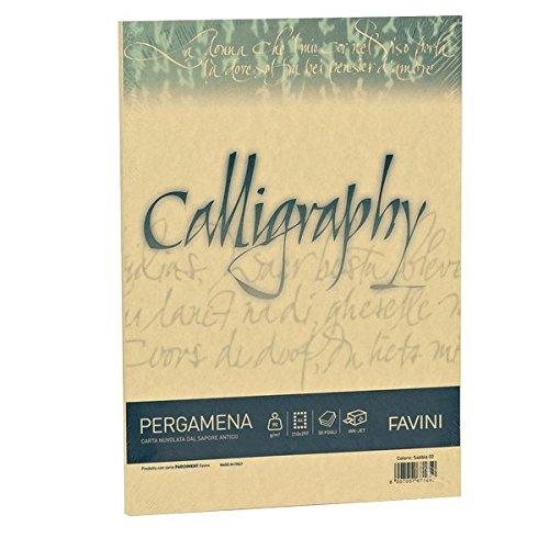 Favini a69w084 calligraphy pergamena liscio