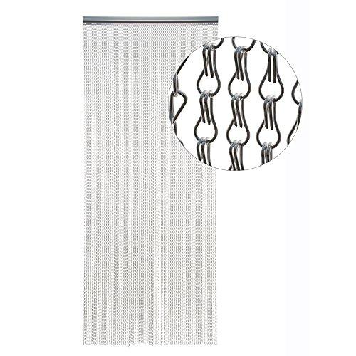Hab & Gut -DV01413- Cortina para Puertas ESLABONES DE Metal, Plateado, Metal, 100 x 300 cm ALU