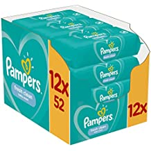 Pampers Lingettes Sensitive de 12 Paquets 52 Lingettes