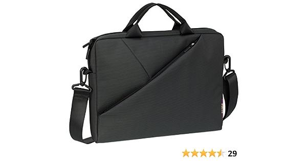 Rivacase Tasche Für Notebooks Bis 13 3 Sehr Flache Laptoptasche Mit Gepolsterten Fächern Und Viel Stauraum Grau