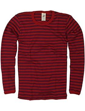 Engel - Camiseta para niños (manga larga, lana, seda, rizo, tallas: de 18 meses a 12 años), 3 colores diferentes