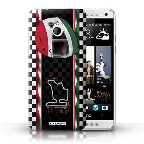 Kobalt® Imprimé Etui / Coque pour HTC One/1 Mini / Singapour conception / Série F1 Piste Drapeau Hongrie/Budapest
