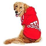 JUYUAN-EU Adidog Pet Dog Jumpsuit Hood Cat Sweater Puppy T Shirt Warm Hoodies Coat Clothes for Large Dogs