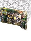 Tischdecke * Lego - Ninjago Movie * für Kindergeburtstag und Mottoparty | Kinder Geburtstag Party Plastic Table Cover Ninja