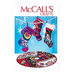 McCall Pattern Company M6859 Stockings and Tree Skirt Sewing Template, One Size
