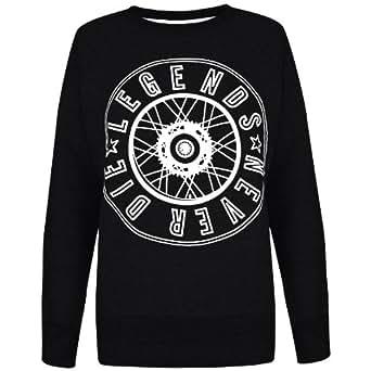 Oromiss Womens Ladies Varsity Print Sweatshirts Eagle Boy Funny Texts Novelty Jumpers Tops
