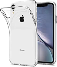 Spigen Liquid Crystal, iPhone XR Hülle, 064CS24866 Transparent TPU Silikon Handyhülle Ultra dünn Durchsichtige Schutzhülle Flex Case (Crystal Clear)