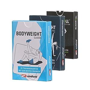 WINDHUND Fitness Trainingskarten 3er Set – Übungen für effektives Ganzkörpertraining