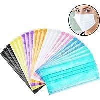 Lvcky Máscara desechable de 3 Capas de Tela no Tejida, máscara para Orejas de flú quirúrgico, 80 Unidades, para.