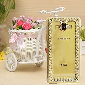 Purple Samsung A5(2015) Fancy Cover Designer Bling Back Cover Case For Girls