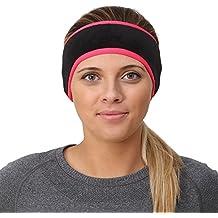 trailheads diadema para la Mujer–12colores, Negro/Rosado neón, Talla única