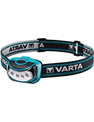 Varta 4x 5mm LED Outdoor Sports Head Light inkl. 3x High Energy AAA Batterien Kopfleuchte Taschenlampe Flashlight Stirnlampe robustes (Falltest 2 m) und spritzwassergeschütztes (IPX4) Gehäuse