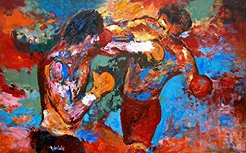 ROCKY 3 – Rocky and Apollo Creed Painting – US Imported Movie Wall Poster Print - 30CM X 43CM Balboa