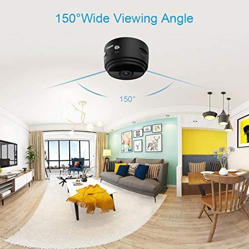 Mini-Kamera,TODAYI Wireless WiFi Mini WLAN Überwachung Kamera Kindermädchen-Kamera mit Bewegungserkennung für iPhone/Android Phone/iPad (Mini Kamera)