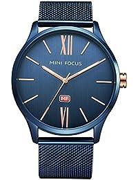 Mini Focus Reloj De Cuarzo De Negocios con Puntero Luminoso Ultra Fino para Hombres con Banda