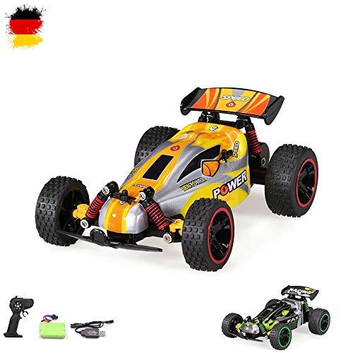 Aandyou Ferngesteuertes Auto,RC Auto 1:18, High Speed RC Off Road Auto, 2.4 GHz 4WD Monstertruck für Kinder (Schwarz)*