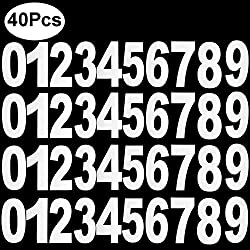 Outee 40 Pcs Wheelie Bin Numbers Stickers Dustbin Numbers Large, 0 to 9 17.5 cm by 9 cm