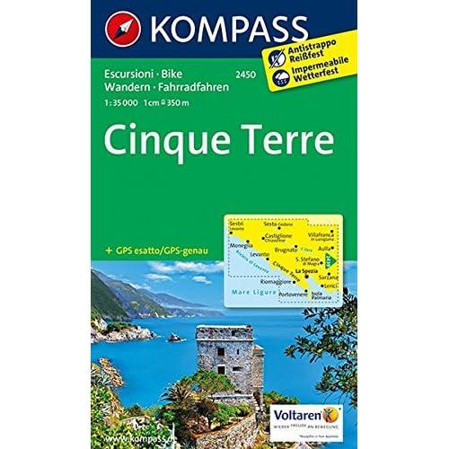 Cinque Terre. Carta Escursionistica 1:35.000: 2015