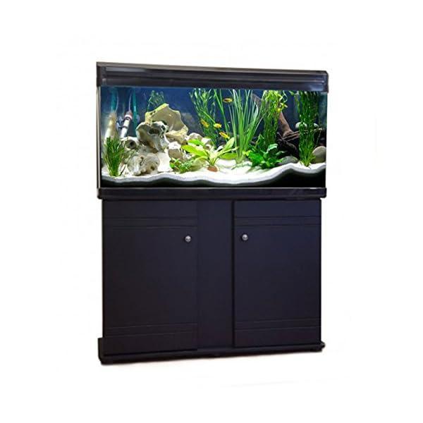 Aquarium Fish Tank & Cabinet (80cm / 120L, Black)