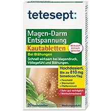 Tetesept Magen-Darm Entspannung Kautabletten bei Blähungen 20er, 5er Pack (5 x 30 g)