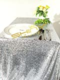shinybeauty 127x 182,9cm Silber Pailletten Hochzeit Tischdecke Sparkle Pailletten Linens Custom Made Pailletten Tischdecke Pailletten Tisch Overlay