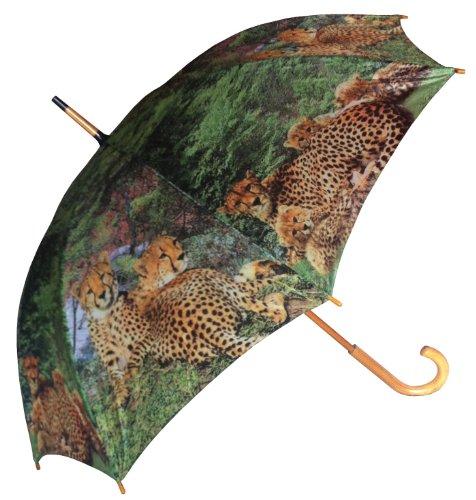 irm Motiv Gepard Raubtier Raubkatze Schirm mit Holzgriff ()