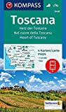 Toscana, Herz der Toskana, Nel cuore della Toscana, Heart of Tuscany: 4 Wanderkarten 1:50000 im Set inklusive Karte zur offline Verwendung in der ... (KOMPASS-Wanderkarten, Band 2440) -