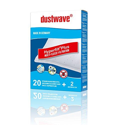 40 Staubfilterbeutel (Superpack) geeignet für Melissa - JVC 2007 / JVC2007 Bodenstaubsauger - dustwave® Markenstaubbeutel - Made in Germany + inkl. Micro-Filter