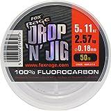 Fox Rage Fluocarbon Schnur Drop 'n' Jig 50m, Angelschnur für Vorfächer, Vorfachschnur zum...