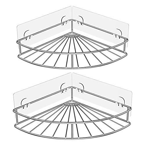 Oriware Adhesivo Estantería de Esquina para Ducha Baño Triangular Organizador  Acero Inoxidable SUS 304 Sin Perforar 9dfe59d0e2e4
