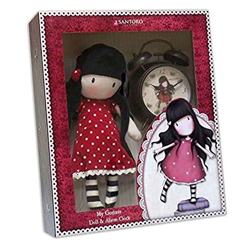 Gorjuss Set de regalo con muñeca y reloj despertador New Heights