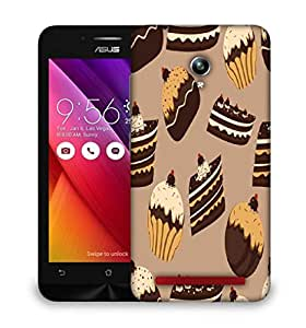 Snoogg Abstract Cakes Pattern Designer Protective Phone Back Case Cover For Asus Zenfone GO
