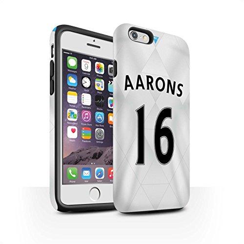 Offiziell Newcastle United FC Hülle / Matte Harten Stoßfest Case für Apple iPhone 6 / De Jong Muster / NUFC Trikot Away 15/16 Kollektion Aarons