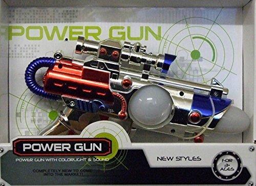 ALLKINDATHINGS Bambini Lampeggiante LED Light up Space Pistola Ray Gun con Suono sparo Laser Gun Toy